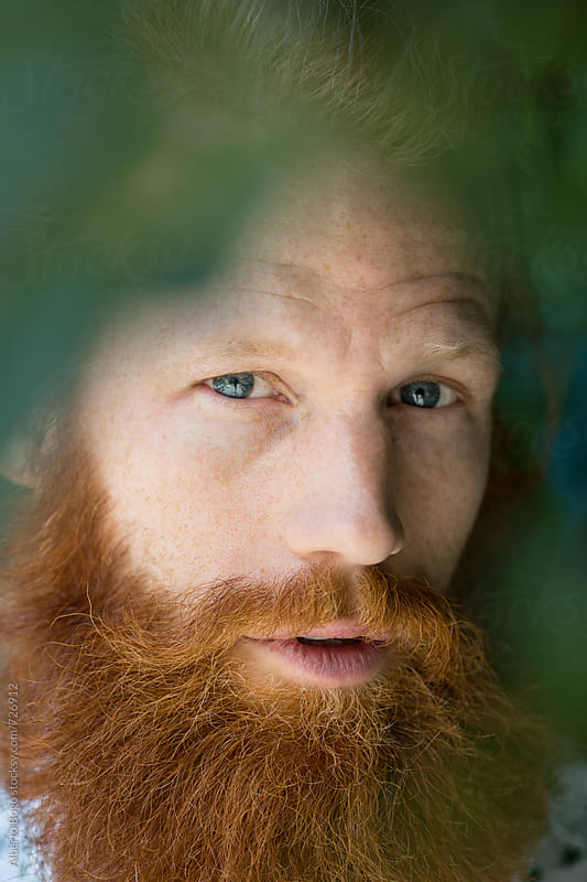 Portrait of Man with red beard by Alberto Bogo for Stocksy United