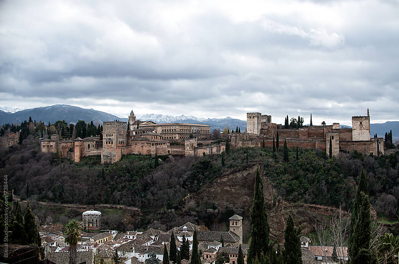 The Alhambra and the city of Granada by Bisual Studio for Stocksy United