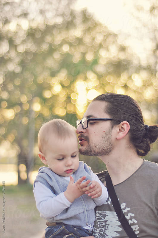 father with his son by Jovana Vukotic for Stocksy United
