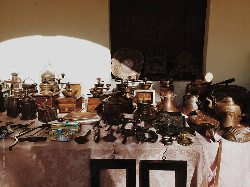 An old percolaters in the flee market by Anna Malgina for Stocksy United