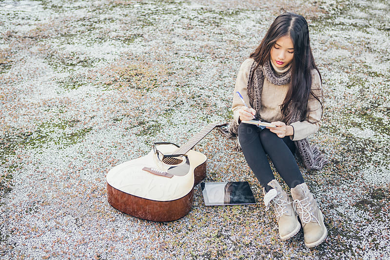 Woman Writing Songs by Lumina for Stocksy United