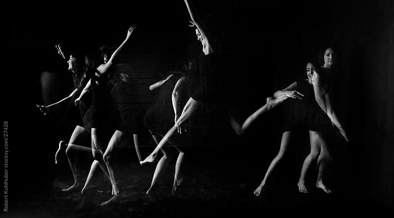 Dancing girl - multiple exposure by Robert Kohlhuber for Stocksy United
