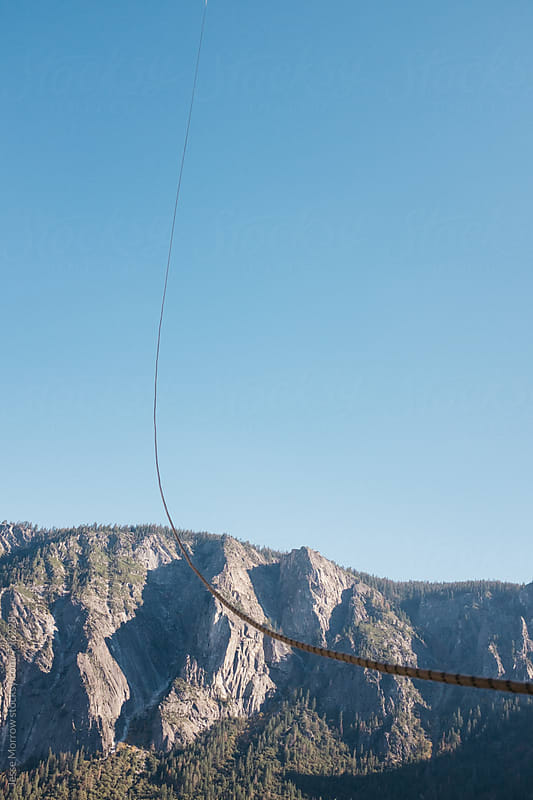 rope and climbing gear on mountain by Jesse Morrow for Stocksy United