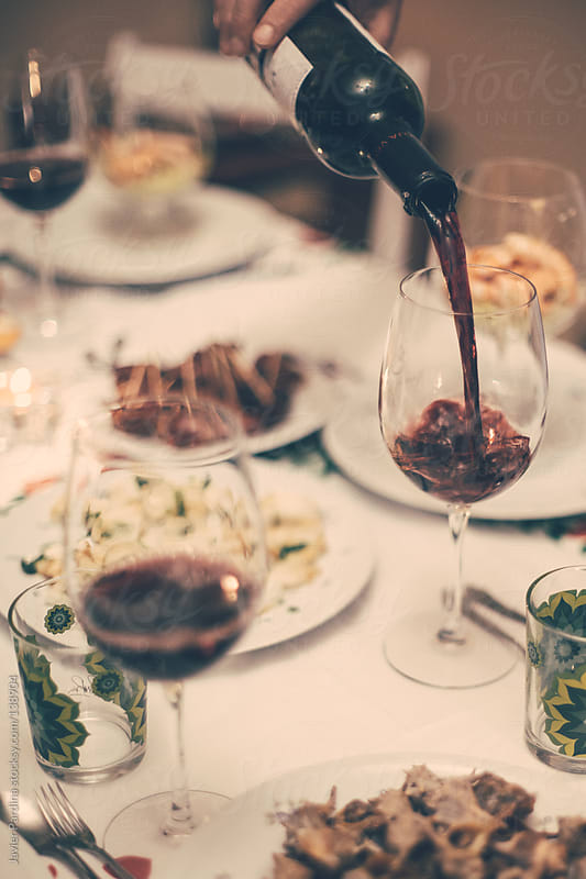 Special dinner with premium wine by Javier Pardina for Stocksy United