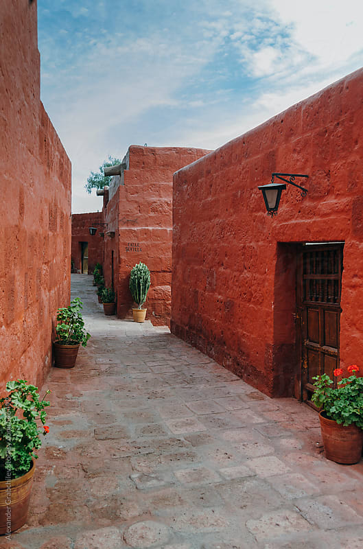 Santa Catalina Convent in Arequipa, Peru by Alexander Grabchilev for Stocksy United