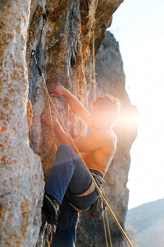 Rock climbing by Dimitrije Tanaskovic for Stocksy United