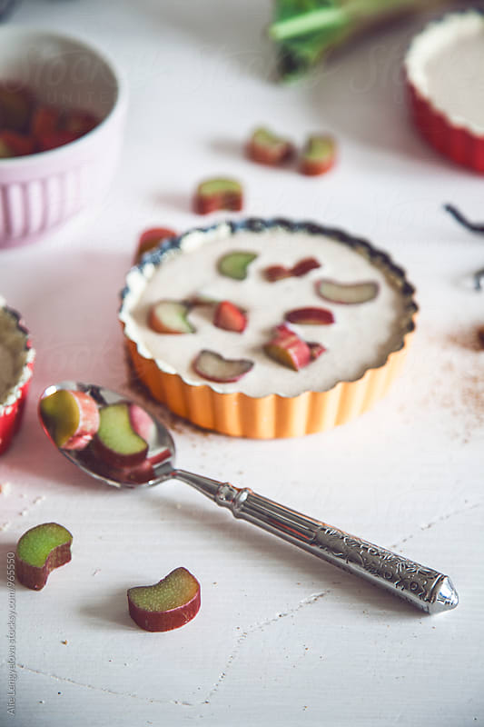 Rhubarb cake by Alie Lengyelova for Stocksy United