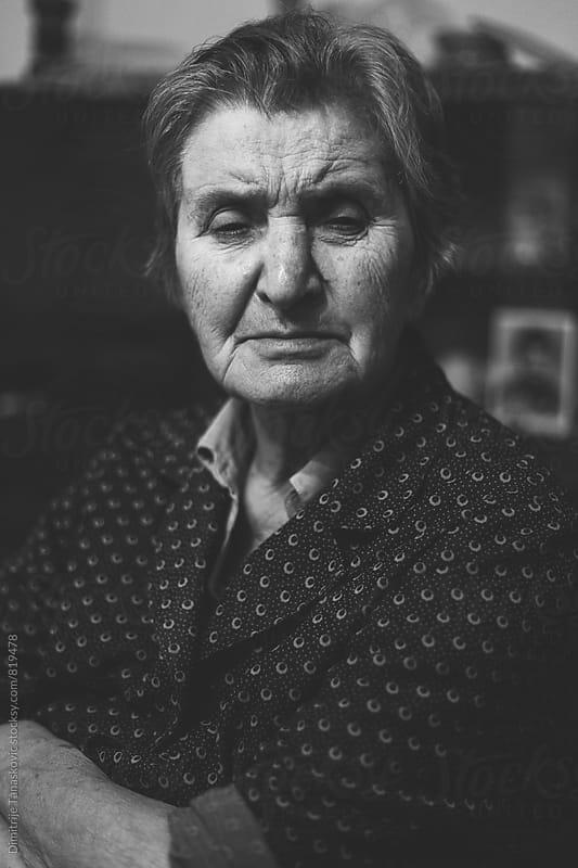 Senior woman portrait by Dimitrije Tanaskovic for Stocksy United