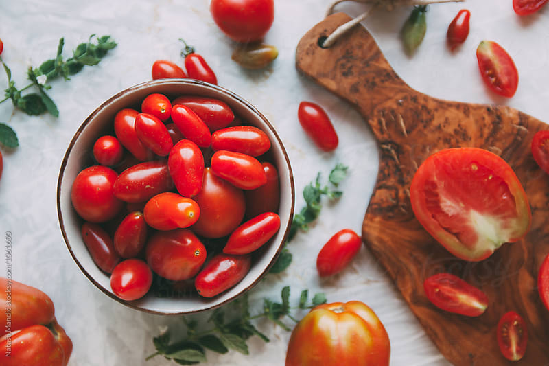Fresh tomatoes  by Nataša Mandić for Stocksy United