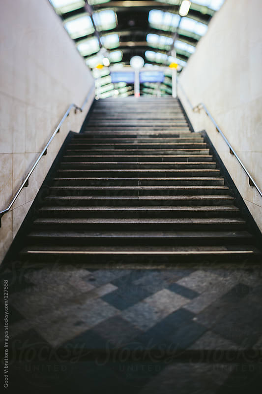 Steps in Train Station by Good Vibrations Images for Stocksy United