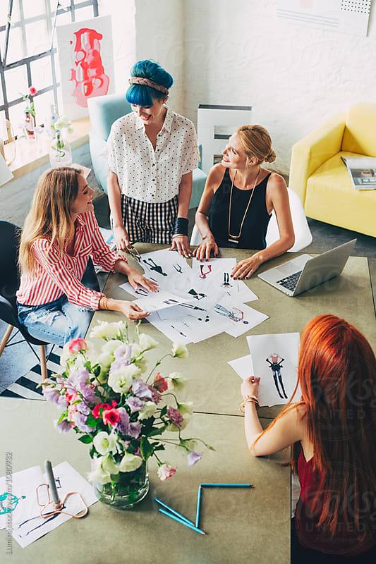 Women Fashion Designers Working  by Lumina for Stocksy United