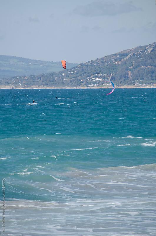 Kite surfers by Neil Warburton for Stocksy United