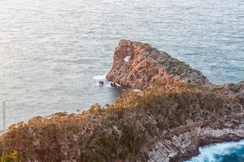Mallorca coastline with sunset light by Marilar Irastorza for Stocksy United