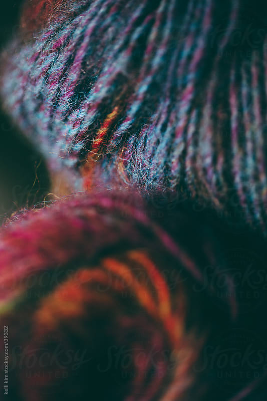 Closeup Of Skeins Of Soft Multicolored Yarns by Kelli Seeger Kim for Stocksy United