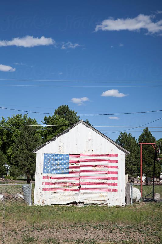 American Flag Barn by Carey Haider for Stocksy United