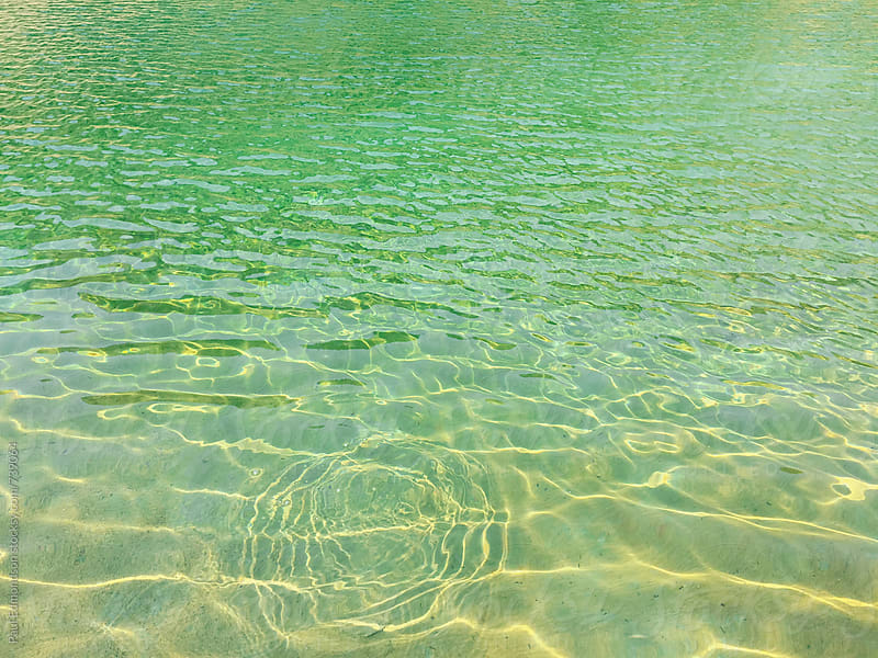 Detail of clear alpine lake, Central Cascades, WA by Paul Edmondson for Stocksy United
