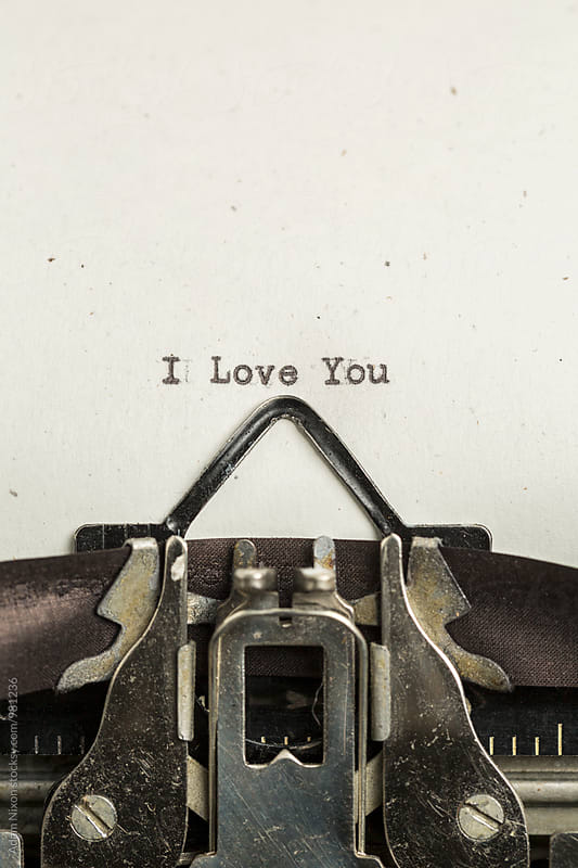 I Love You  typed on a vintage typewriter by Adam Nixon for Stocksy United