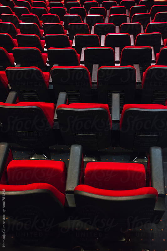 Empty Red Seats in Auditorium by Nemanja Glumac for Stocksy United
