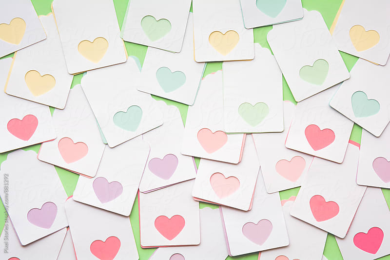 Handmade Valentine's Day cards by Pixel Stories for Stocksy United