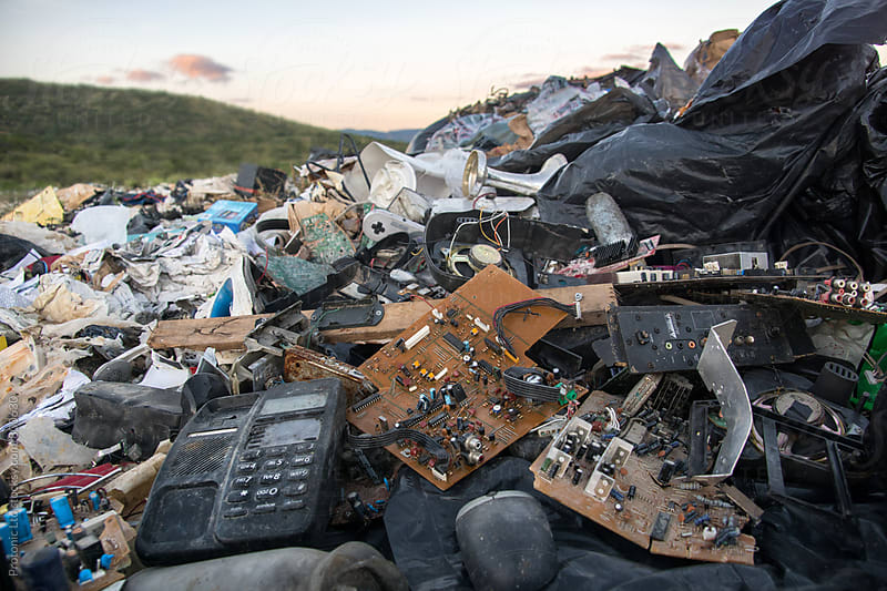 Electronics on a landfill by Per Swantesson for Stocksy United