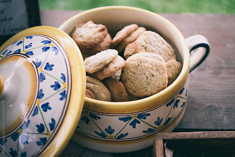 Cookies in a bowl by Adrian Cotiga for Stocksy United