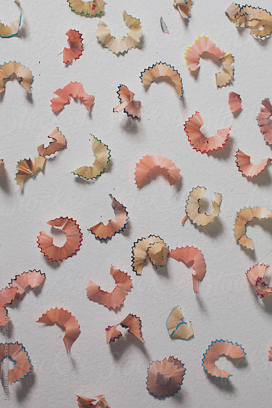 Crayon shavings by Dejan Ristovski for Stocksy United