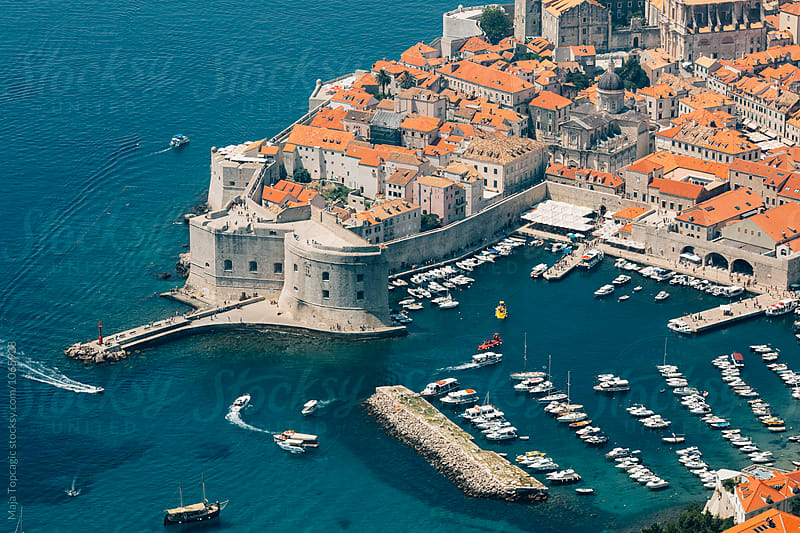 Dubrovnik old town from above by Maja Topcagic for Stocksy United