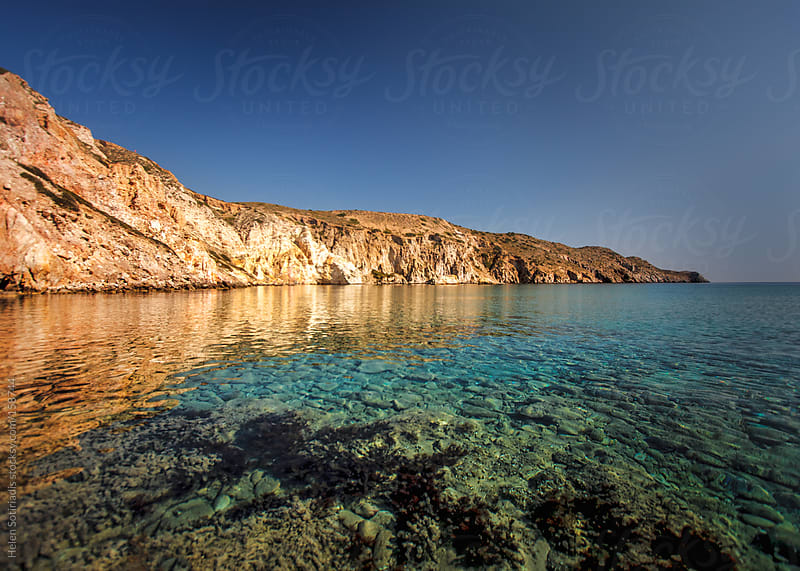 Waterscape at Milos, Greece by Helen Sotiriadis for Stocksy United