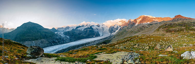 Mountain panorama from Chamanna Boval by Peter Wey for Stocksy United