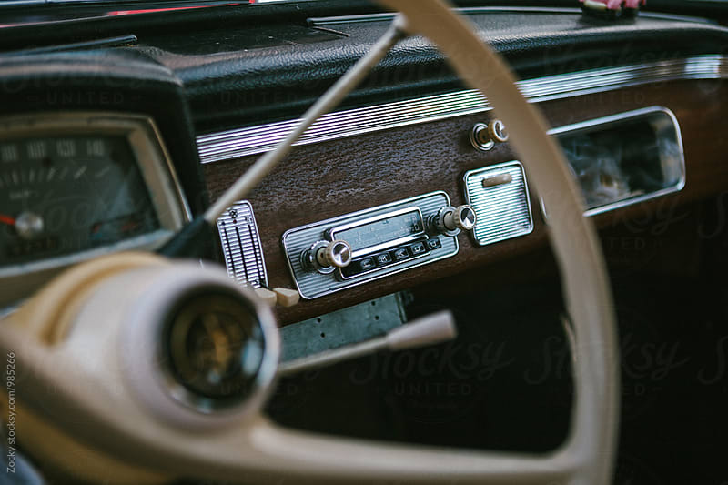 Detail from a classic beautiful old and classic car by Zocky for Stocksy United