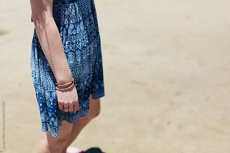 Teen girl wearing a blue summer dress.  by Jacqui Miller for Stocksy United