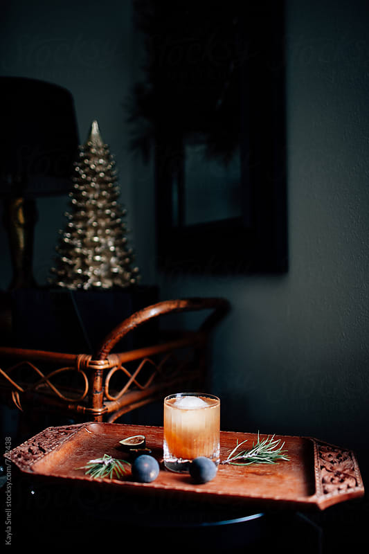 Christmas Cocktail by Kayla Snell for Stocksy United