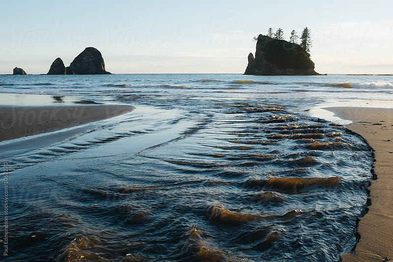 Sea stacks and coastline near Third Beach, Olympic NP, WA by Paul Edmondson for Stocksy United