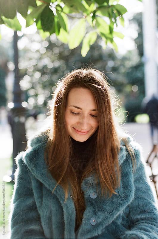 Sweet shy woman by Lyuba Burakova for Stocksy United