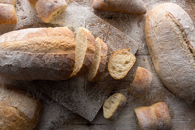 Loaves of Bread ( Sliced ) and Buns by Jeff Wasserman for Stocksy United