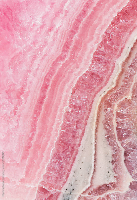 Rhodochrosite mineral pattern by Mark Windom for Stocksy United