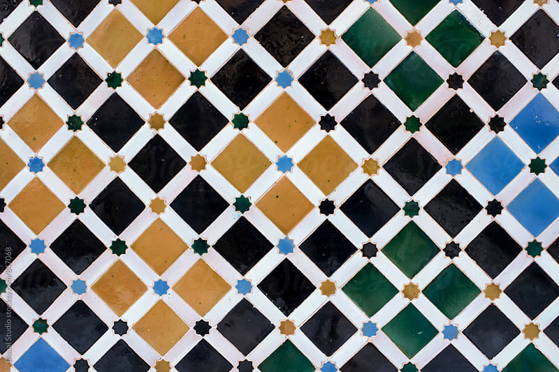 Arabic tiles from the Alhambra, Granada by Bisual Studio for Stocksy United