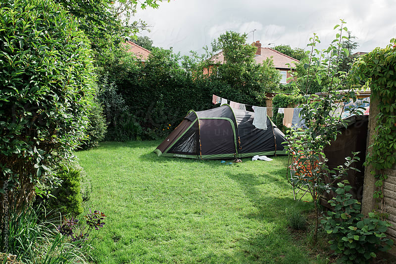 backyard camping by Léa Jones for Stocksy United