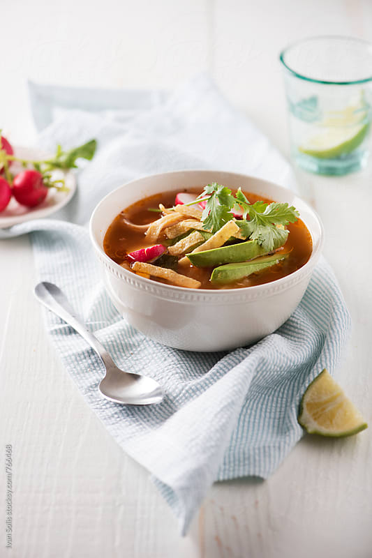 Tortilla soup by Ivan Solis for Stocksy United