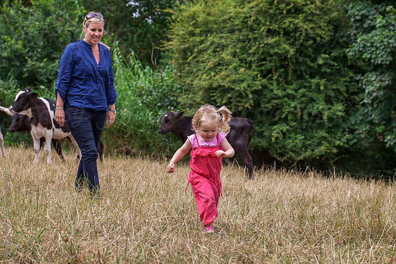 Young Farming Family with Toddler by Rowena Naylor for Stocksy United