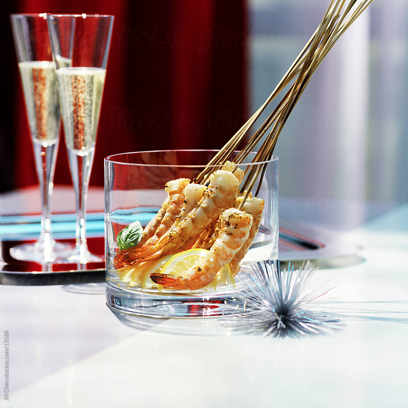 Shrimp & Champagne by Jill Chen for Stocksy United