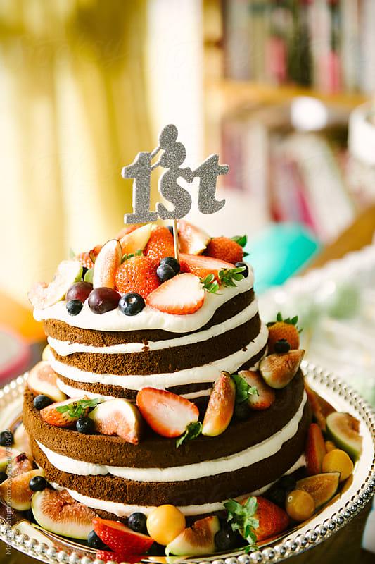 Fruit chocolate cake by Maa Hoo for Stocksy United