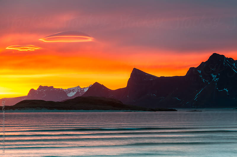 Lenticular Clouds over Lofoten by Marilar Irastorza for Stocksy United