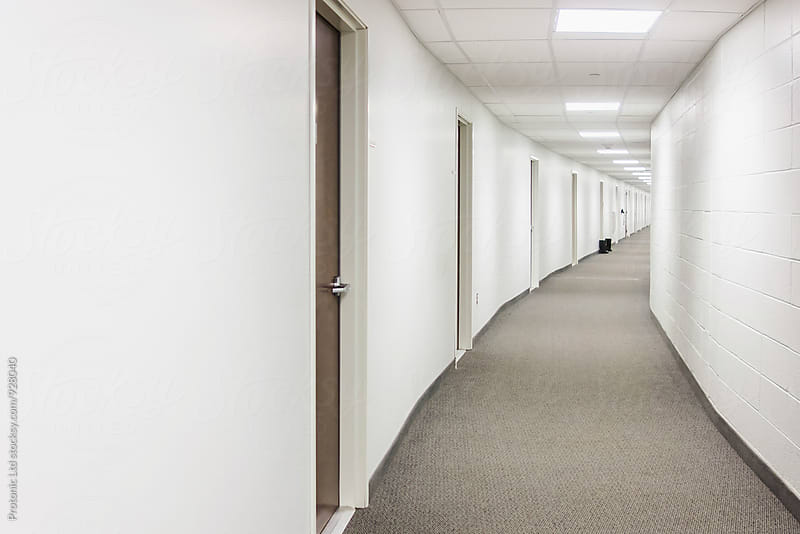 Long office corridor by Per Swantesson for Stocksy United