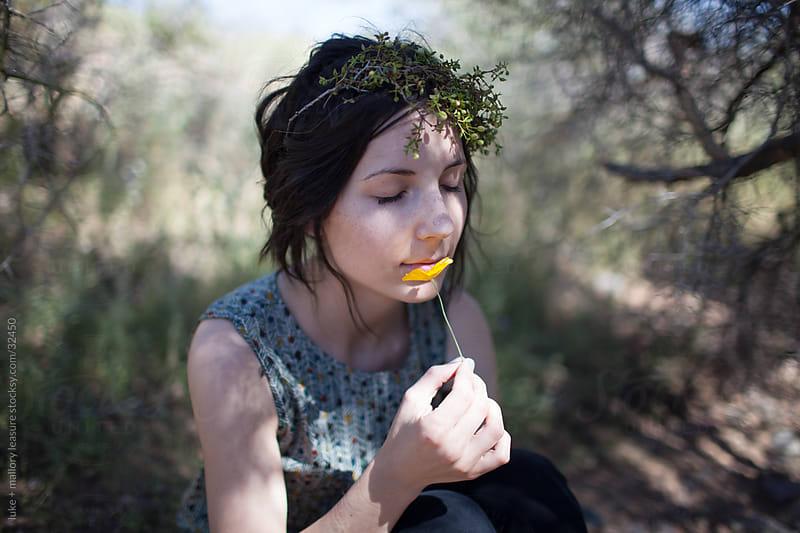 Desert girl by luke + mallory leasure for Stocksy United