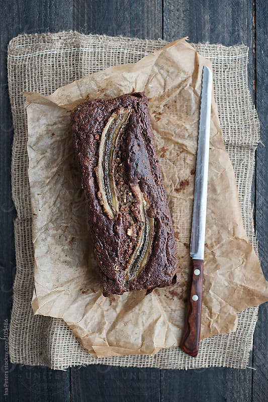 Food: Whole-wheat Banana Bread with roasted almonds by Ina Peters for Stocksy United