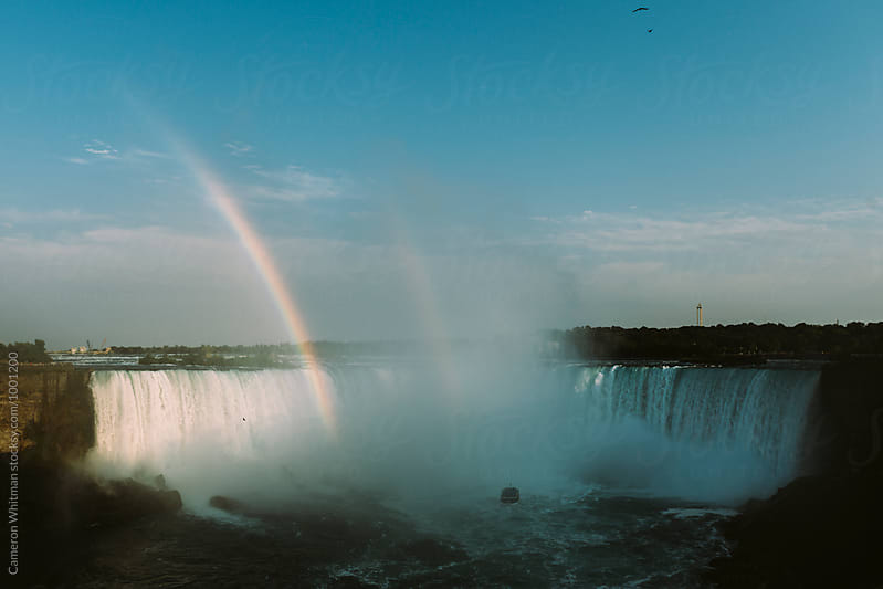 Rainbow over Niagara by Cameron Whitman for Stocksy United