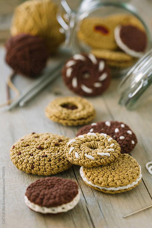 Amigurumi cookies by Blai Baules for Stocksy United