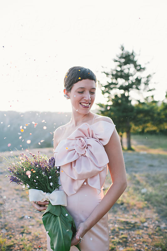 Happy bride by Ani Dimi for Stocksy United