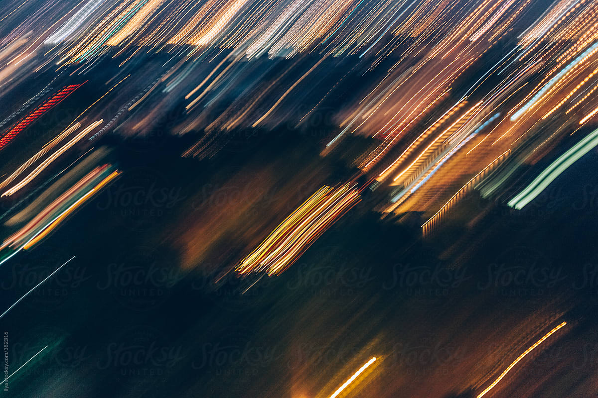 Abstract background of night city lights by Ilya ...